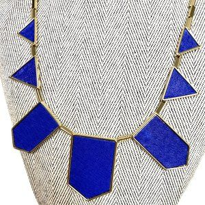 HOUSE OF HARLOW 1960 RESIN NECKLACE - BLUE